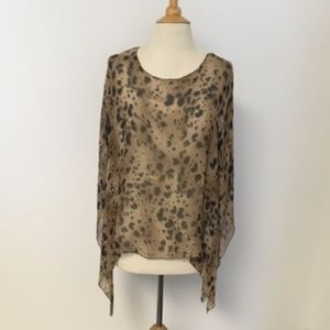 Flowy Silk Cheetah Print Top